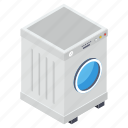 automatic washer, cloth washer, electrical appliance, home appliance, laundry machine, washing machine icon