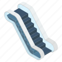 electric stairs, escalator, moving stairs, staircase, staircase elevator, stairway, upstairs icon