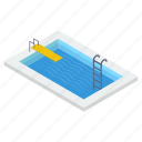 lap pool, natatorium, pool ladder, swimming bath, swimming pool icon
