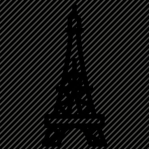 eiffel, paris, tower icon