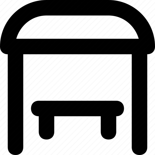 chair, furniture, interior, stool, table icon