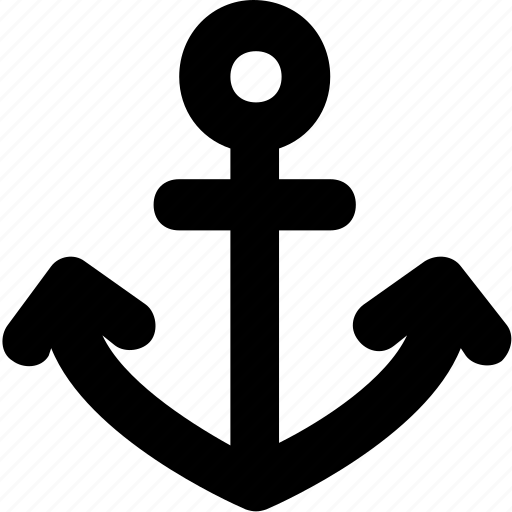 anchor, boat anchor, nautical, navigational, ship icon