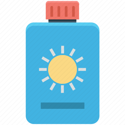 sun cream, sunblock, sunburn cream, sunscreen, suntan lotion icon