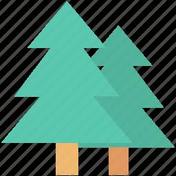 fir tree, forest, pine tree, tree, yard tree icon