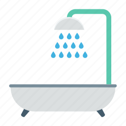bath, bathtub, shower, shower tub, tub icon