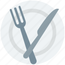 fork, dining, plate, knife, restaurant