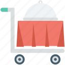 food service, food trolley, hotel trolley, room service icon