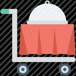 food service, food trolley, hotel trolley, room service icon