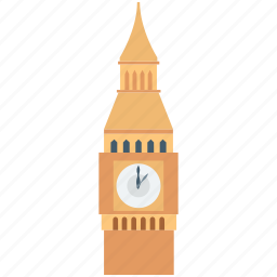 big ben, clock tower, elizabeth tower, london clock tower, monument icon