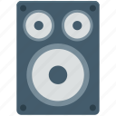loudspeakers, music system, speaker, subwoofer, woofer icon