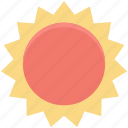 bright day, morning, sun, sunny day, sunshine icon