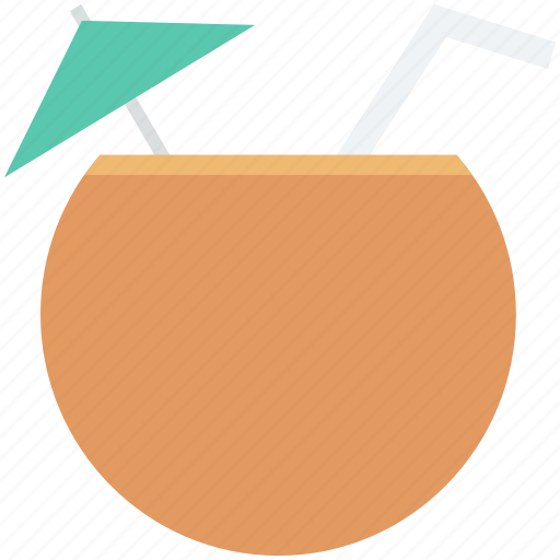 beach drink, coconut, coconut drink, coconut water, fruit drink icon