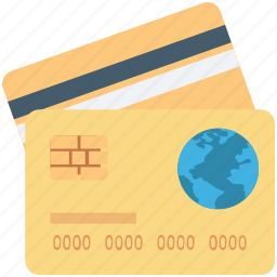 atm card, credit card, debit card, smart card, visa card icon