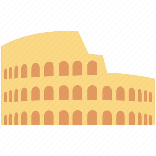 amphitheatre in rome, colosseum, italy, rome, rome city icon