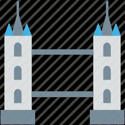 bridge, bridge tower, landmark, mountain, tower icon