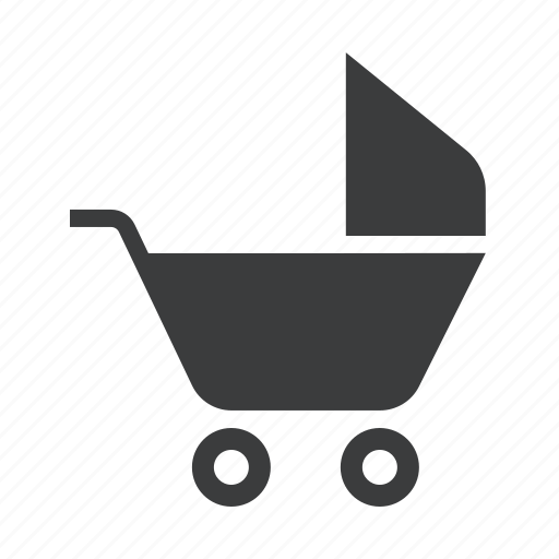 baby, stroller icon