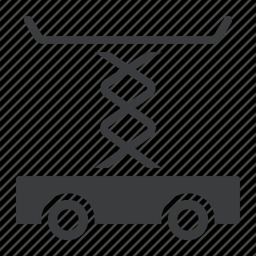 brick, construction, picker, spring, vehicle icon