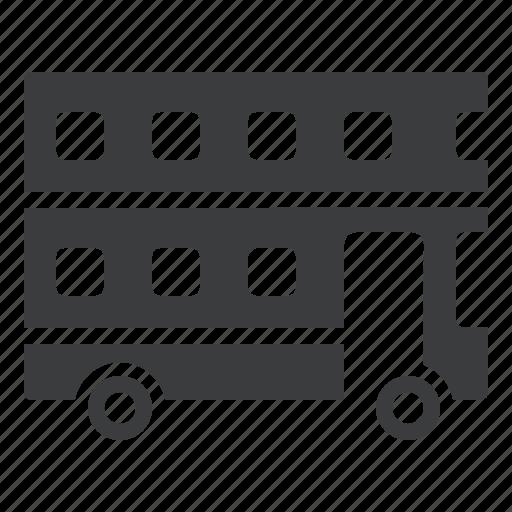 bus, decker, double, public, transport, transportation icon