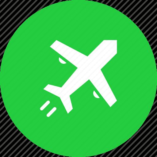 aeroplane, air, airplane, flight, plane, transport icon