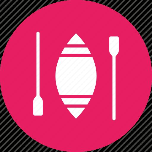 boat, boating, canoe, paddle, sail icon