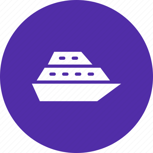 cruise, ship, transport, travel, vacation, water icon