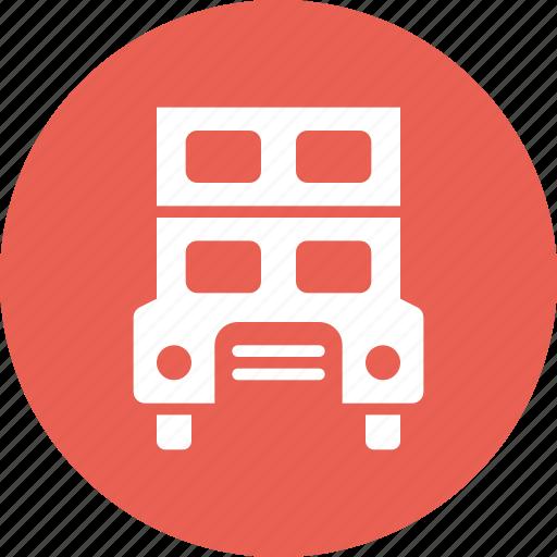 bus, decker, double, public, transport, travel icon