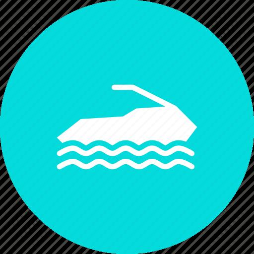 jet, recreation, ski, skiing, sport, vacation, water icon
