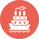 cruise, navy, sail, ship, transport, water icon