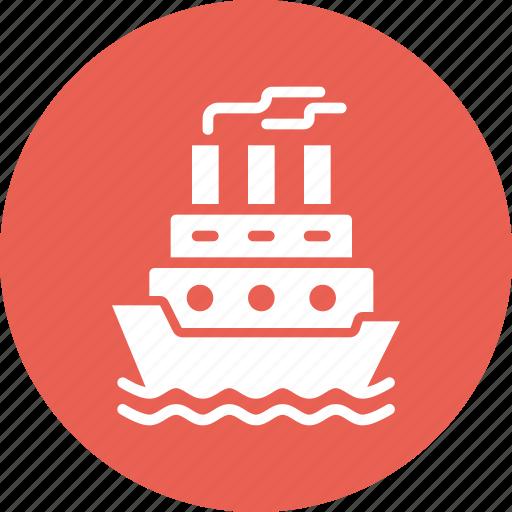 cruise, navy, sail, ship, transport, water icon