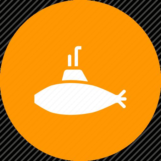 marine, military, submarine, transport, travel, tube, underwater icon