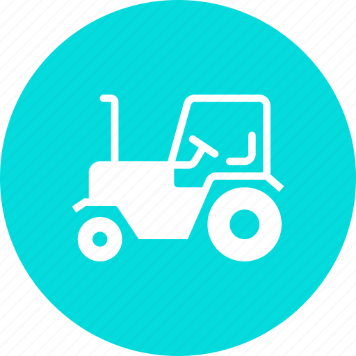 agriculture, farm, tractor, transport, vehicle icon