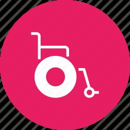 chair, challenged, handicap, physically, wheel, wheelchair icon