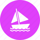 boat, sail, sailing, sea, vacation, water, yacht icon