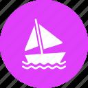 boat, sail, sailing, sea, vacation, water, yacht icon