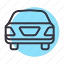 automobile, cab, car, sedan, taxi, transport icon
