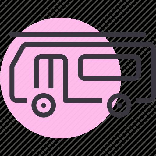 bus, caravan, transport, van, vehicle icon