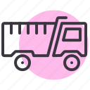 dump, lorry, tipper, truck icon