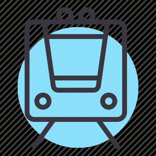 metro, public, railway, train, transport icon