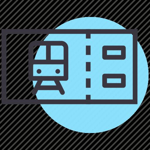 metro, pass, public, ticket, train, transport icon