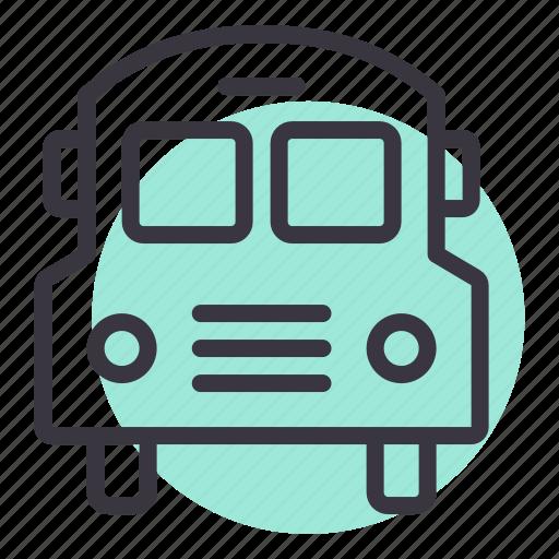 bus, school, transport, transportation, travel, van icon