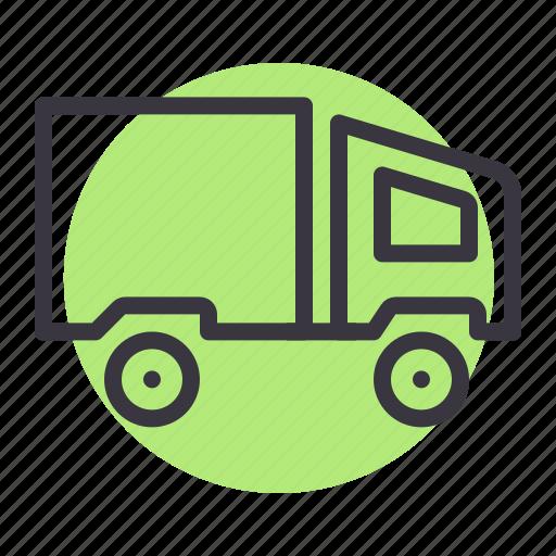 carrier, dump, lorry, tipper, truck, van icon