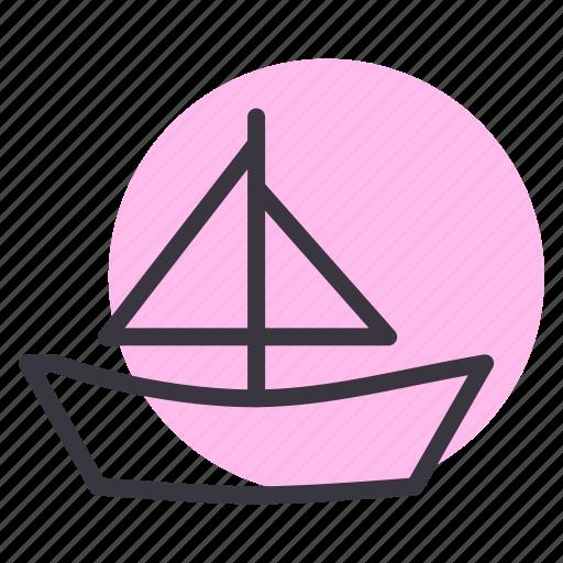 boat, sail, sailing, sea, travel, vacation, yacht icon