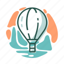 air, balloon, fly, holidays, travel, vacation icon