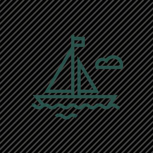 boat, canoe, sea, trasnport, travel, water icon