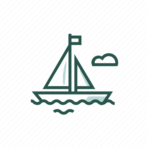 boat, sail, sea, transportation, travel, water transportation icon
