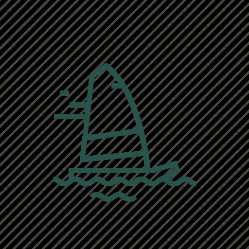 boat, canoe, sail, travel, vacation icon
