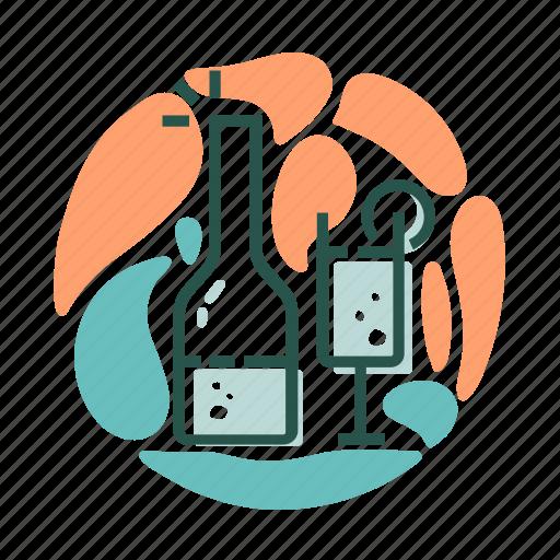 alcohol, drink, travel, wine icon