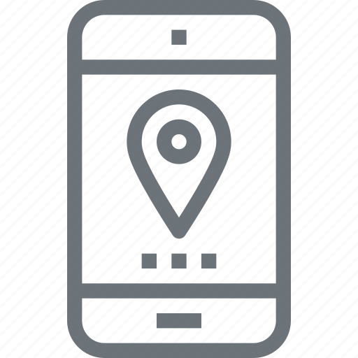 communication, gps, location, map, mobile, navigation, phone icon