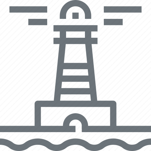 building, house, light, lighthouse, navigation, sea, tower icon