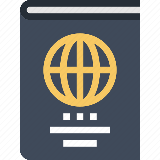 business, document, id, identification, international, passport, travel icon